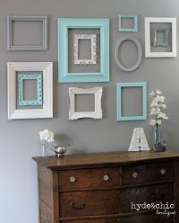 Get old frames from good will etc and paint them to make a ...