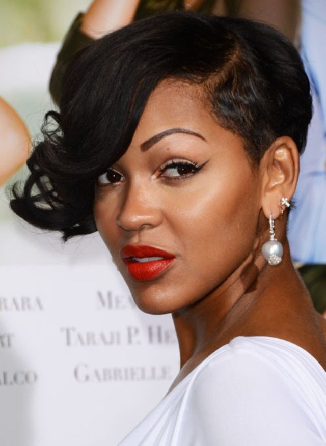 Meagan Good Short Hairstyles On The Game 640×876 Cutlife