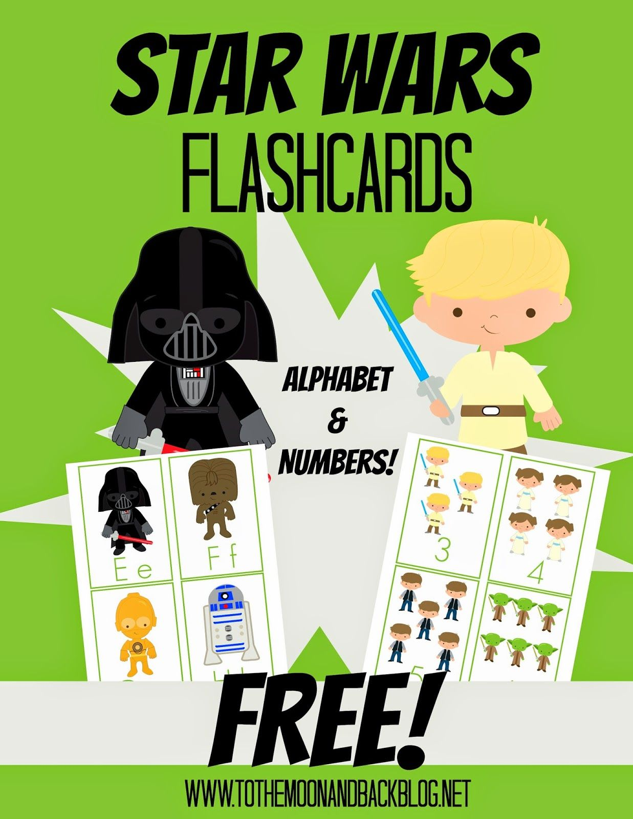 Free Star Wars Alphabet And Number Flashcards