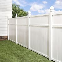 Shop Freedom Arborley White Privacy Vinyl Fence Panel ...