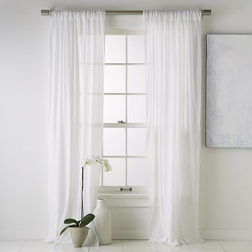 White Linen Curtains! Baby Hallmarks Nursery Pinterest Front