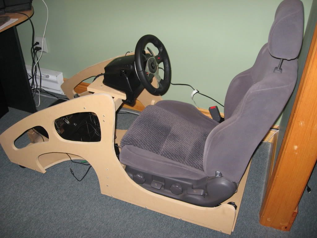 racing seat office chair diy roman abs scott 39s cockpit in home game setups