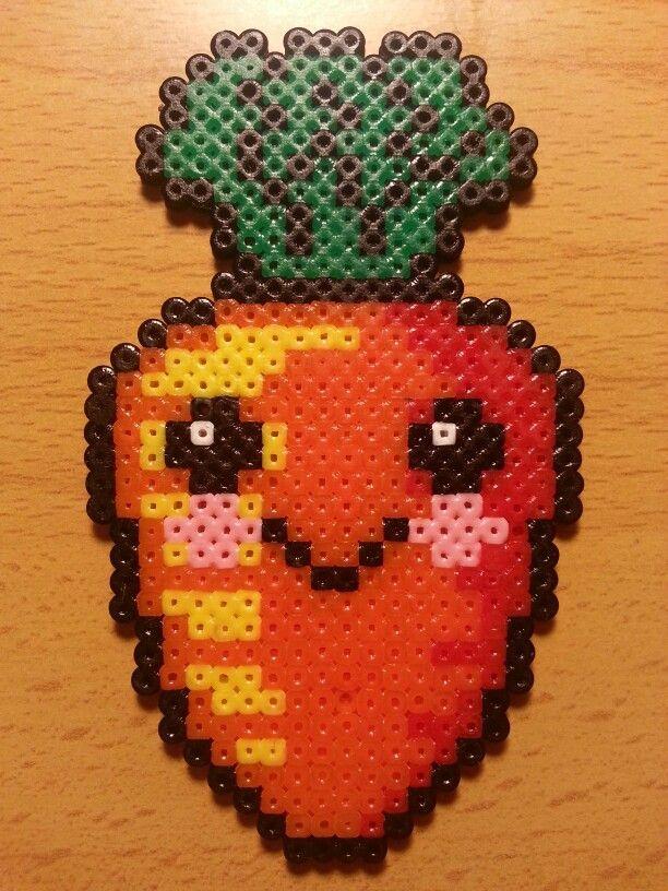 Minecraft Art Carrot Pixel
