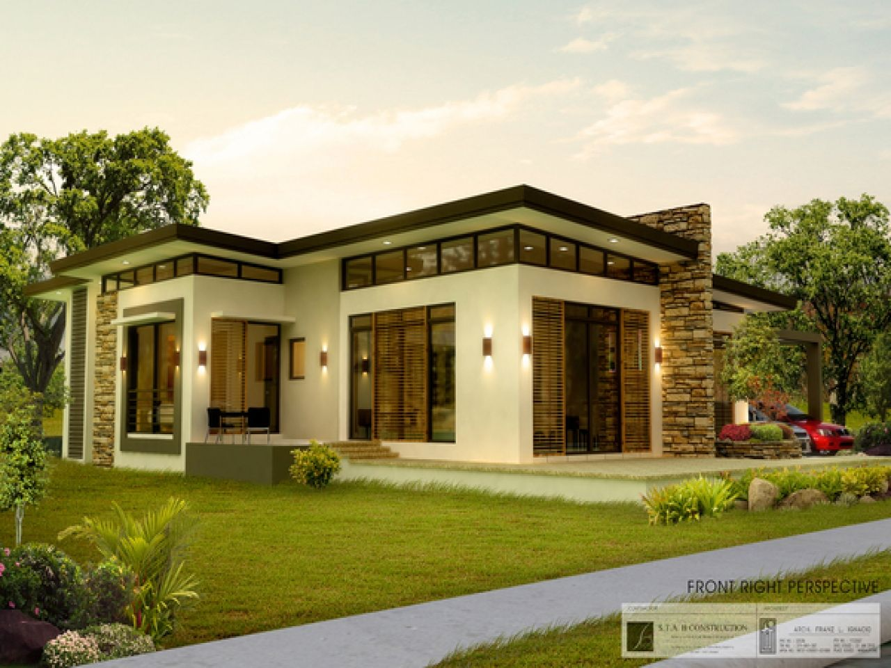 Modern Bungalow Modern Bungalow House Plans Philippines Free