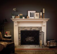 Traditional Spaces Tile Fireplace Surround Design ...