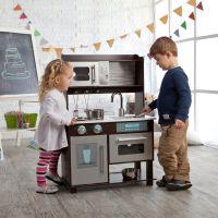 Amazon.com: KidKraft Toddler Play Kitchen with Metal ...