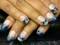 Dallas Cowboy nails | Go Cowboys!! | Pinterest | Dallas ...