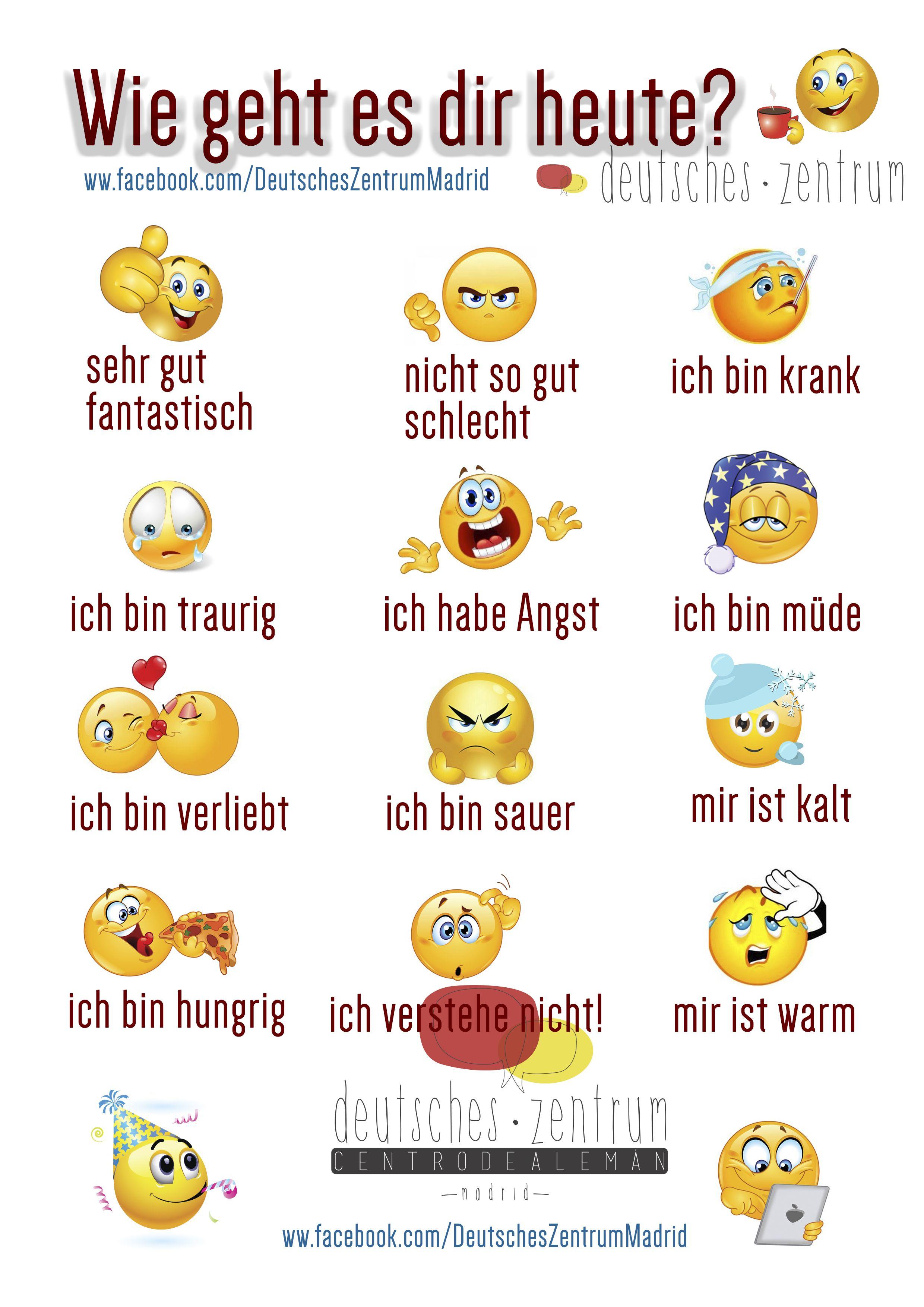 Gefuhle Deutsch Wortschatz Grammatik