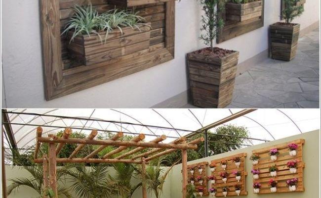 Vertical Pallet Gardens On Walls Modern Gardens