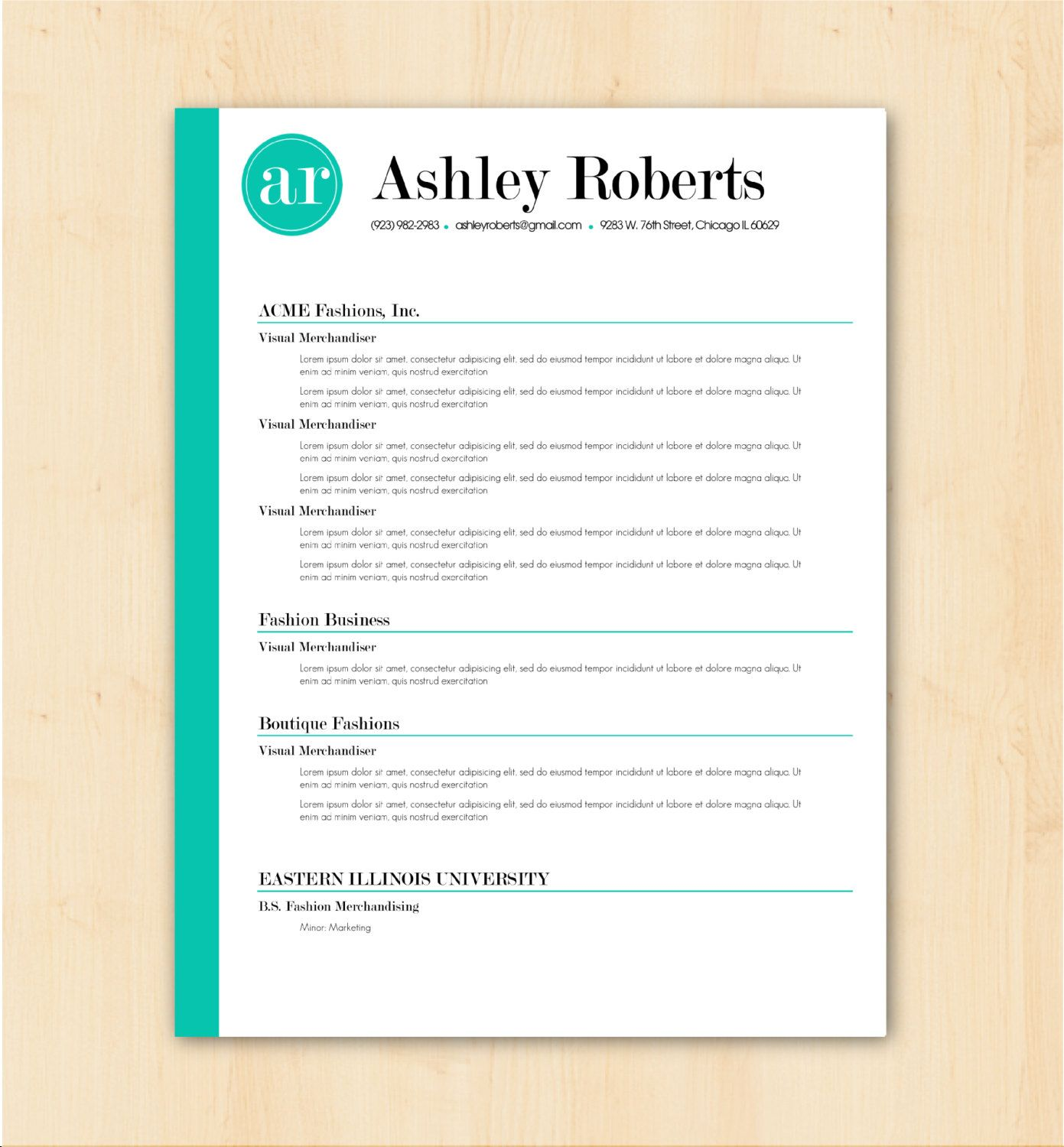 Modern Resume Template & Cover Letter Template Creative Resume