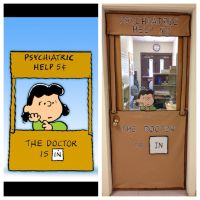 A fun project that I made for my friend's office door. She ...
