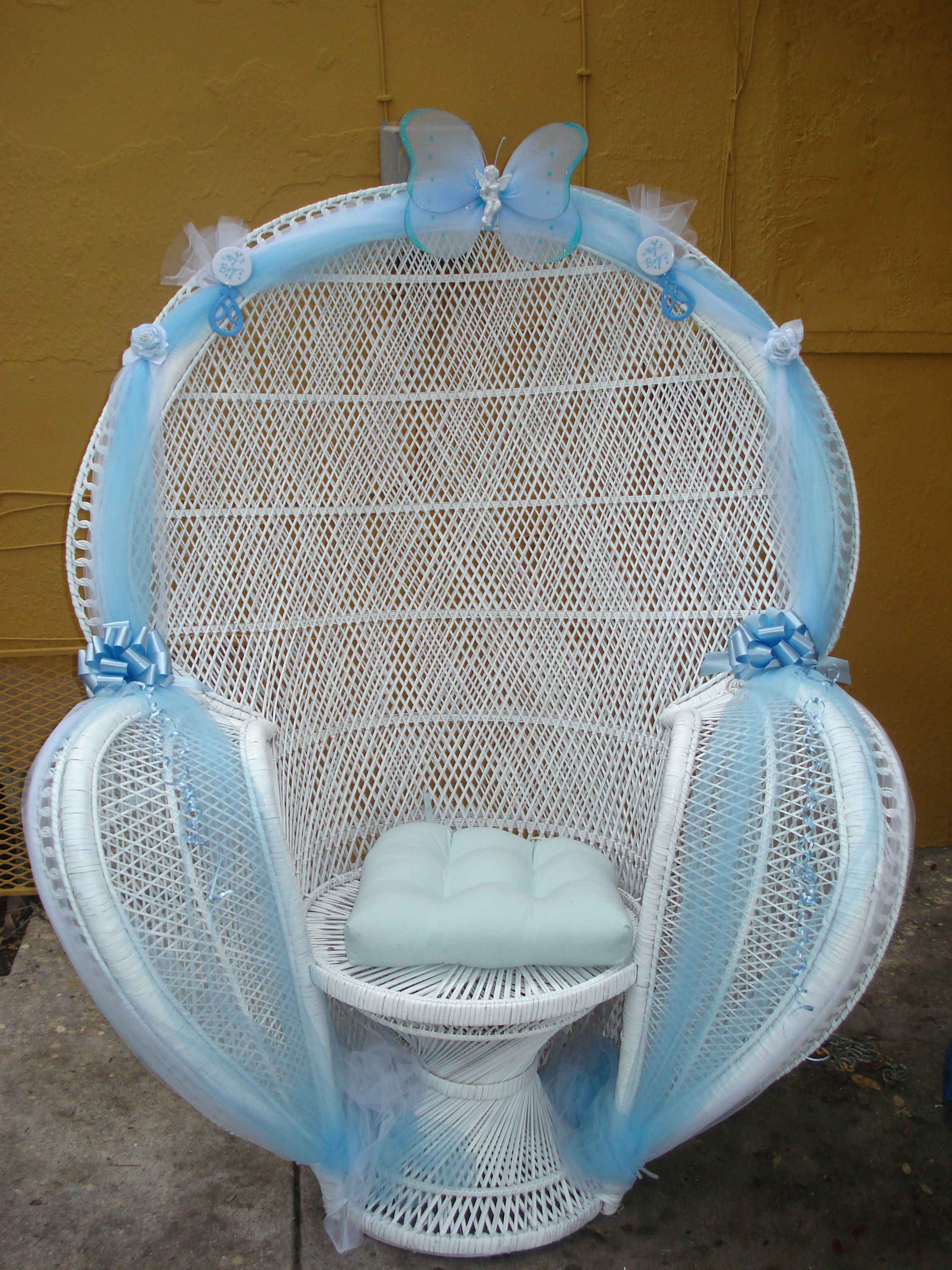 baby shower chair decorations dunlop fishing chairs on pinterest balloon arch rocking