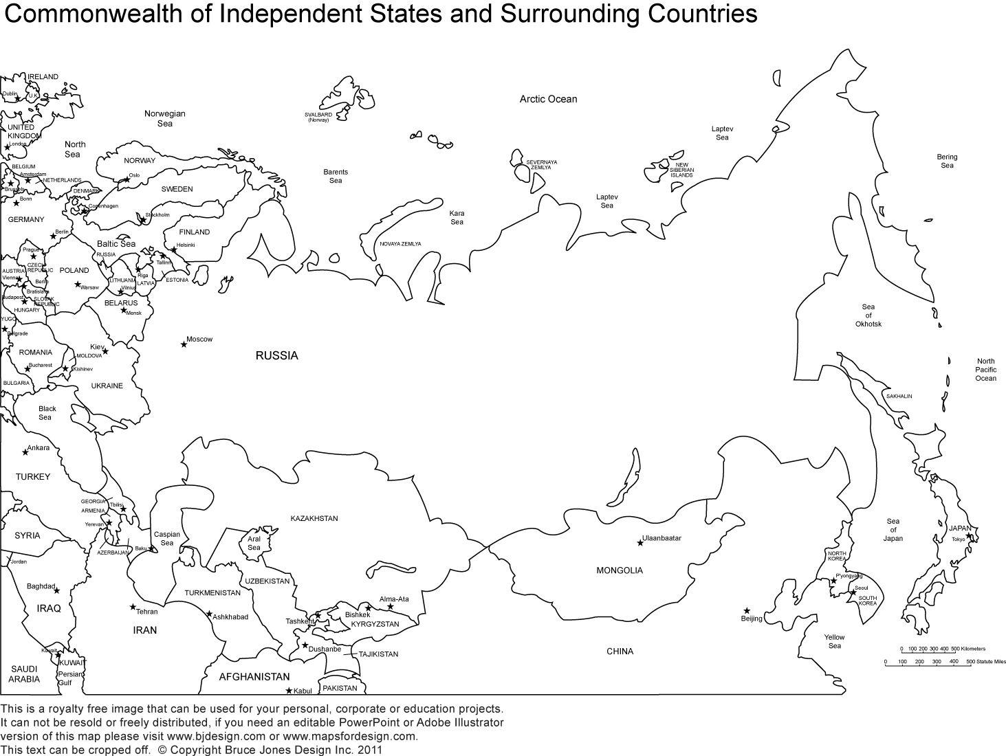 Week 11, Eastern Europe, Russia, Map, Printable Blank Map
