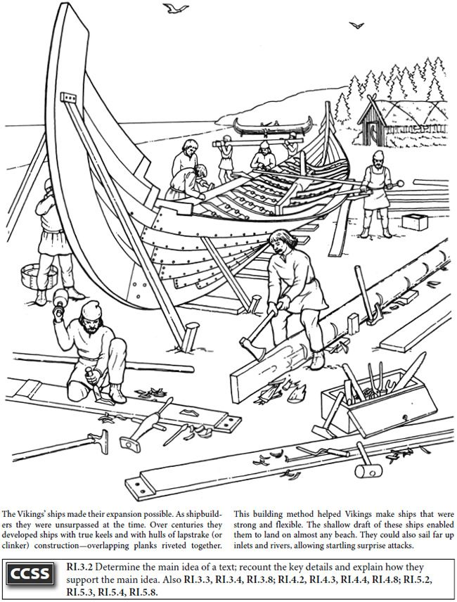 BOOST Story of the Vikings Coloring Book Dover