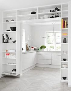 Love how these shelves merge so perfectly in this minimalist room the best of interior decor  home ideas design tips also rh pinterest