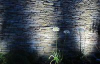 stone wall + lighting | Landscape + Garden Inspiration ...