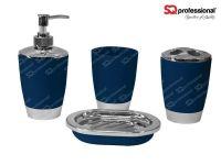 4-piece Bathroom Set - DARK BLUE: liquid soap dispenser ...