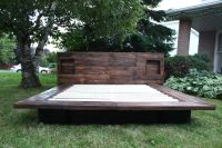 Japanese style platform bed, made from pallet wood ...