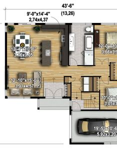 Plan pm two bedrooms with  contemporary vibe house plans also rh za pinterest
