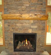 gas fireplaces   rustic fireplace log mantel, log ...