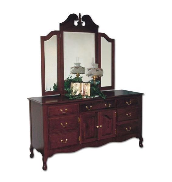 queen anne bedroom furniture Queen Anne Master Dresser - Ohio Hardwood Furniture