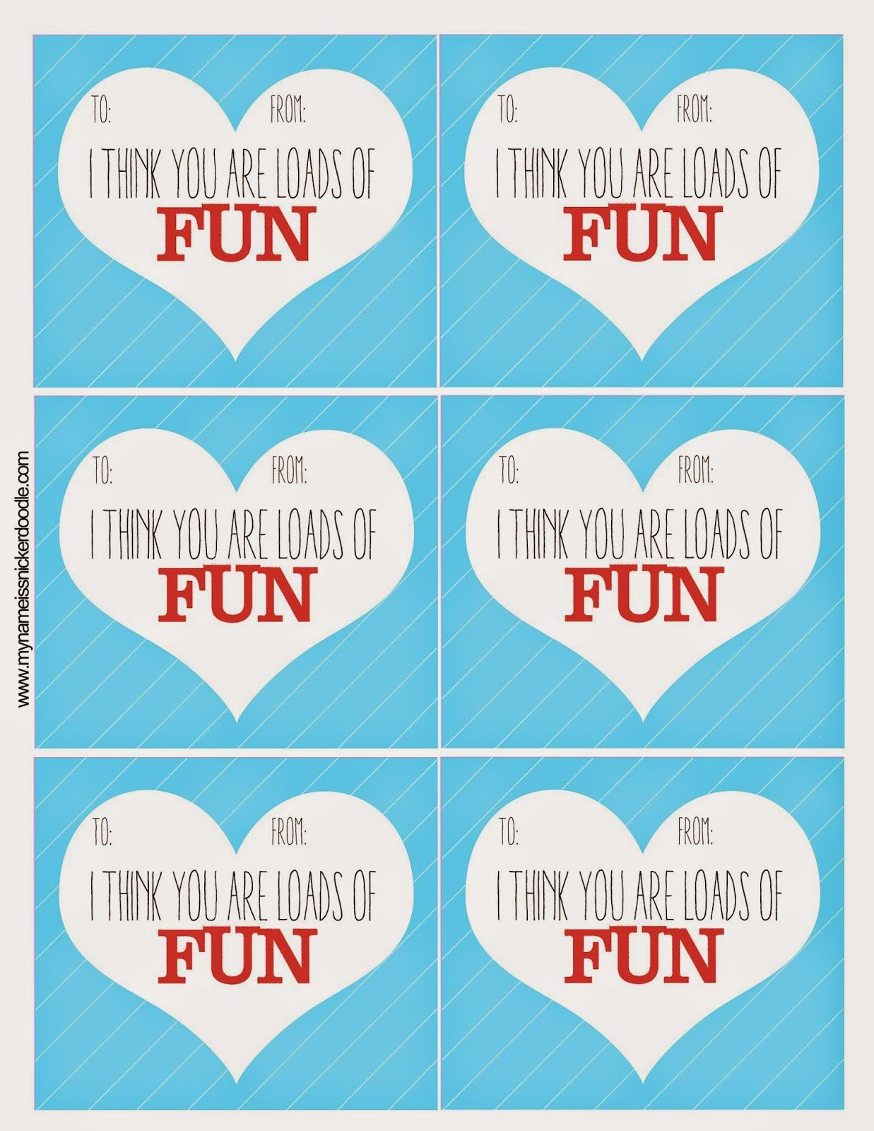 Super Fun Free Valentine S Printable