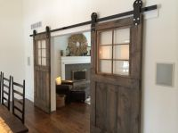 Vintage custom sliding barn door with windows (price is