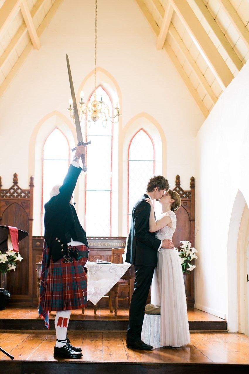 A traditional Scottish wedding ceremony  Vintage