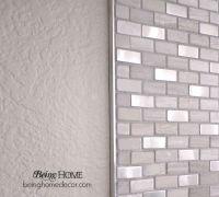 Super Simple DIY Tile Backsplash | Simple diy, Bricks and ...