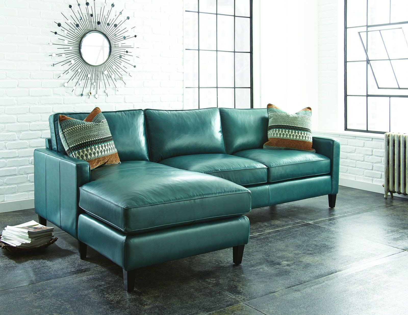Blue Leather Chair Teal Blue Leather Sofa Thesofa