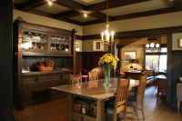 1908 Arts & Crafts dining room with built-in buffet and ...