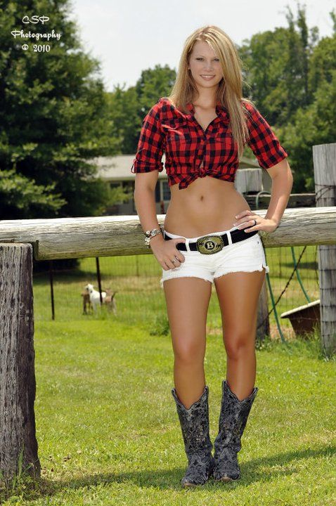 Boots Country Girl Shorty Shorts