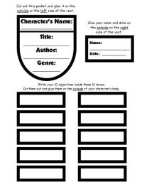 Character Body Book Report Project: templates, worksheets ...