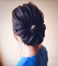 Chic wedding updo for straight hair to Inspire You ...