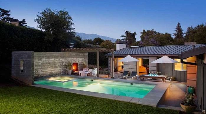Outdoor Pool House Designs Pools & Backyards Pinterest Pool