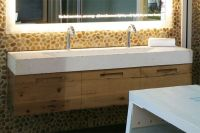 Double Faucet Trough Style Sink | Trough Sink - Custom ...