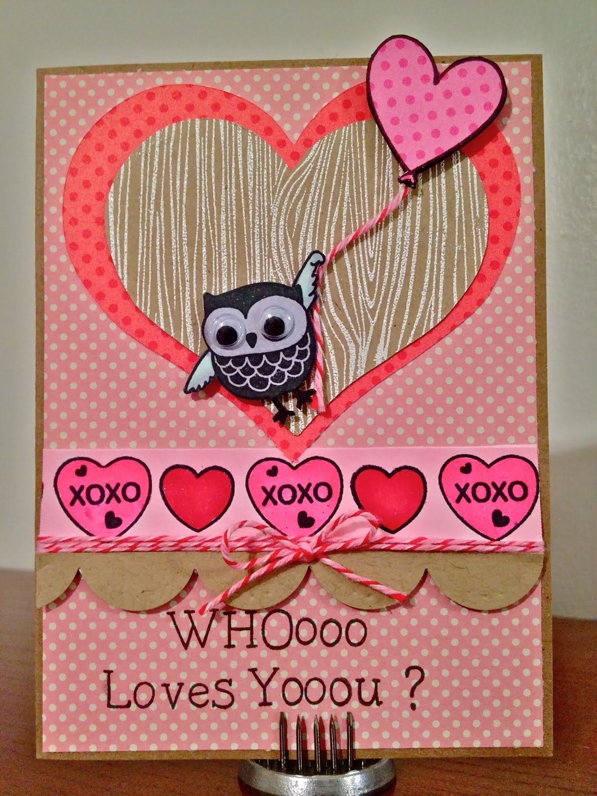 Owl Pun Valentines Card With Googly Eyes Tooting My
