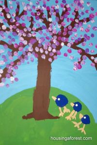 Spring Tree ~ Fingerprint Cherry Blossoms | It's Preschool ...