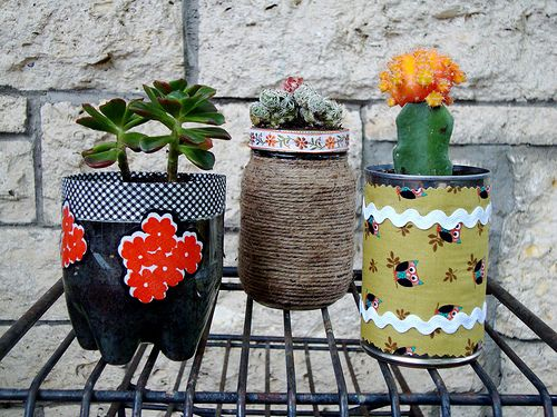 Recycled Container Plant Pots Plants Pinterest Bouteille