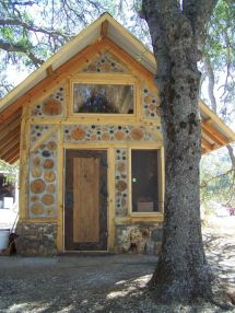 Small Timber Frame With Cordwood Infill Designed And