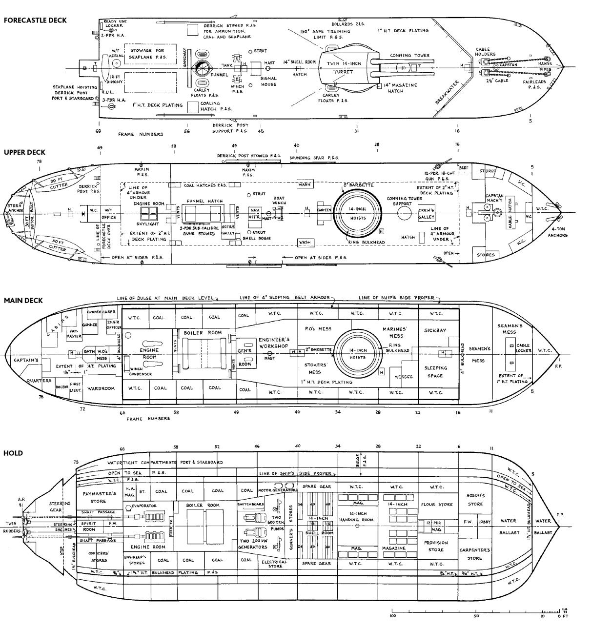 uss monitor diagram jeep cherokee wiring diagrams deck plans of the british 39roberts 39 1915 ship