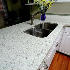 Recycled Glass Kitchen Countertops Affordable Cabinets Vetrazzo Cubist Clear Countertop By