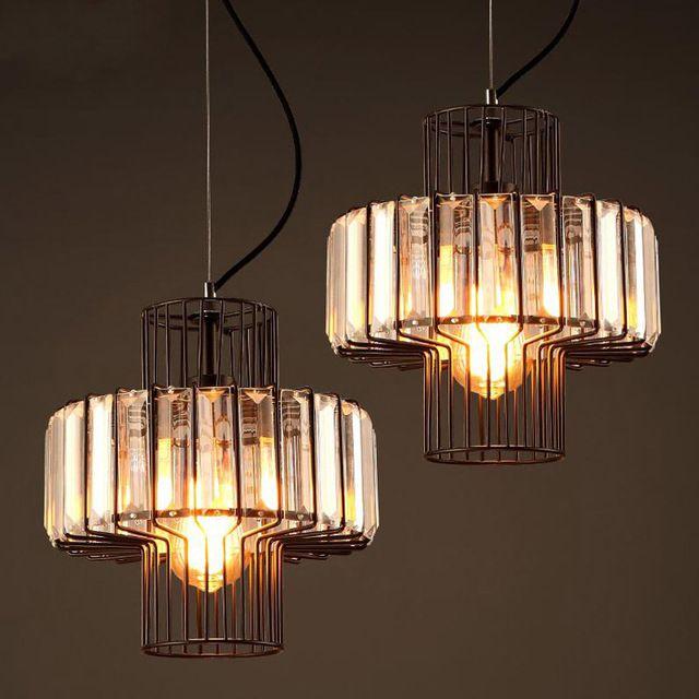 Industrile Retro Loft Kristallen Hanglampen Slaapkamer