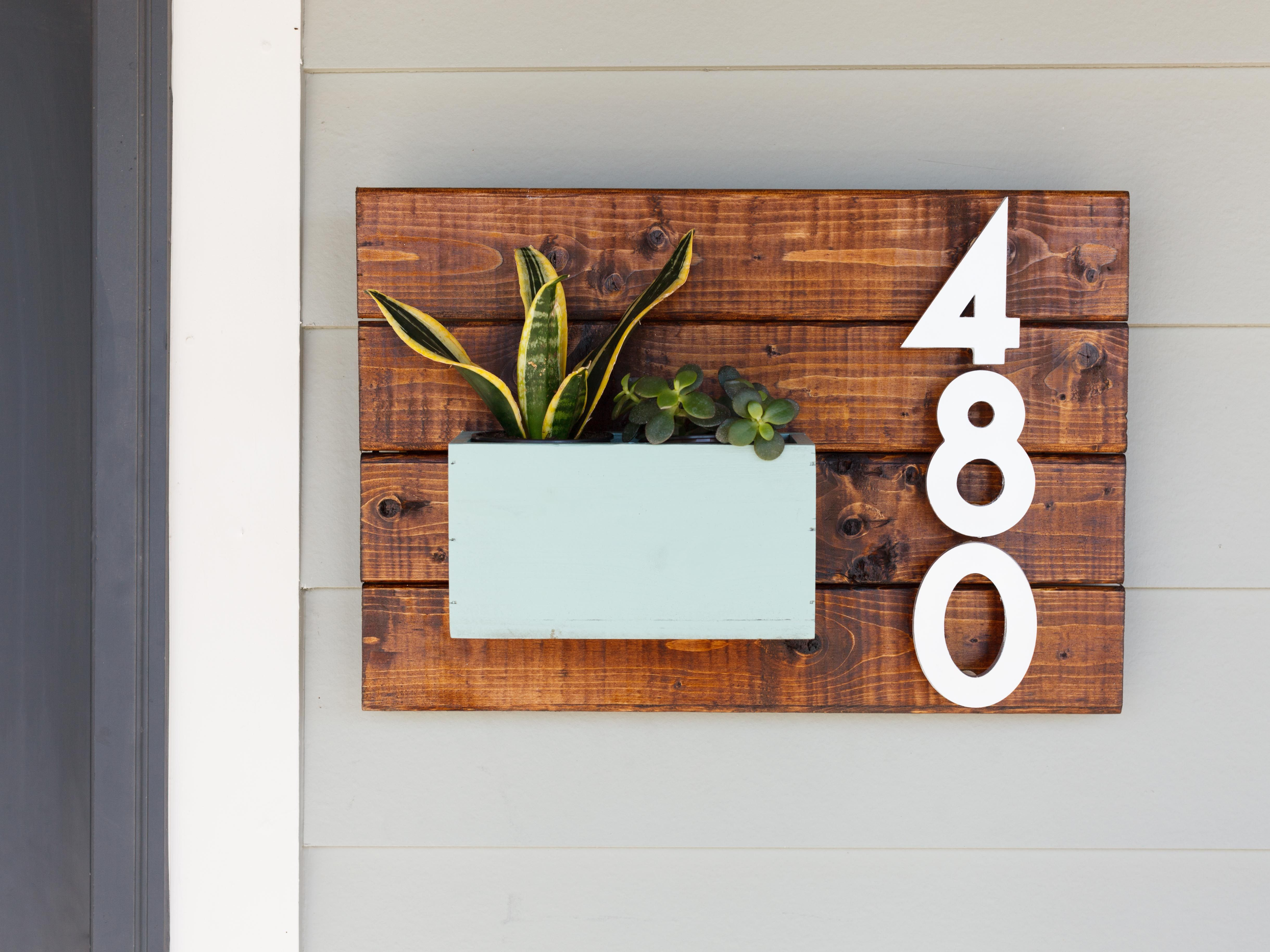 DIY House Number Sign Serif Font Sans Serif And Curbappeal