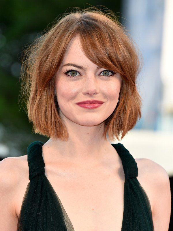 Frisuren Für Runde Gesichter Emma Stone Gesichtsformen Und