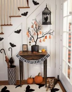 awesome halloween indoors and outdoor decorating ideas also rh pinterest