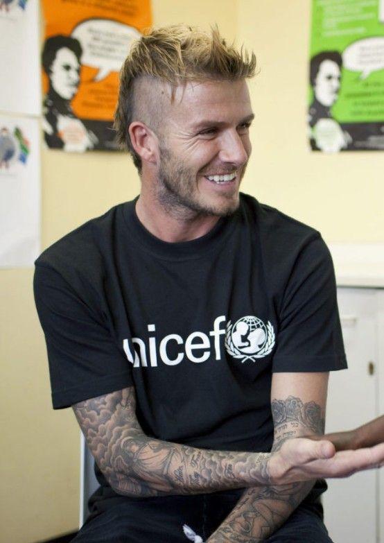 David Beckham Mohawk Hairstyle Stylish Long Messy Mohawk Haircut