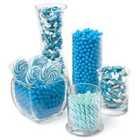 candy buffet at boy baby shower | Baby Boy Blue Candy ...