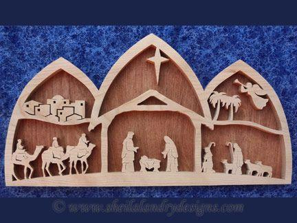 SLDK216 Arched Nativity Scene Wood Pinterest Arch