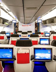Cabin tour boeing austrian airlines also flugzeuge airplanes rh pinterest